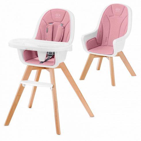 Kinderkraft Tixi 2-az-1-ben etetőszék - pink