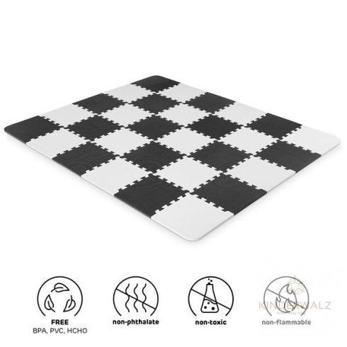 Kinderkraft Luno játszószőnyeg - fekete/fehér